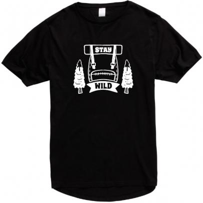 Pánské tričko Stay Wild s prodlouženými zády