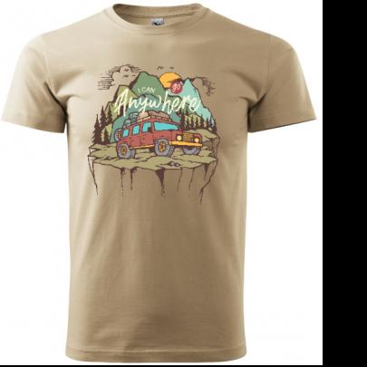 Pánské tričko pro cestovatele I Can Go AnyWhere