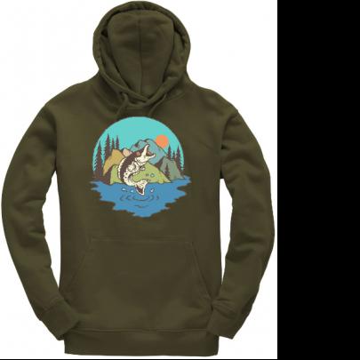 Rybářská mikina s kapucí