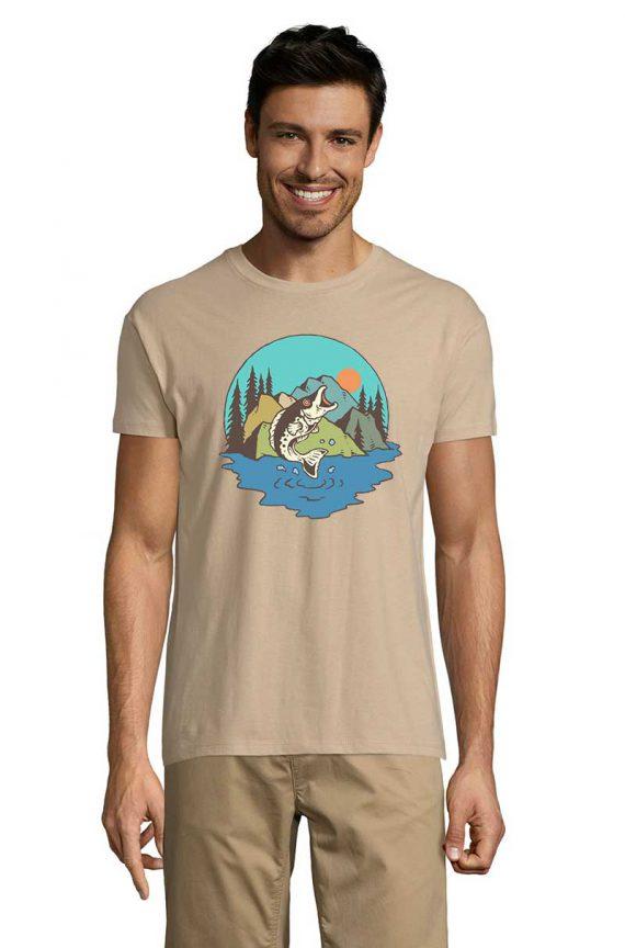 Pískové rybářské tričko Sand