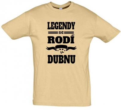 Pánské narozeninové tričko Legendy se rodí v dubnu