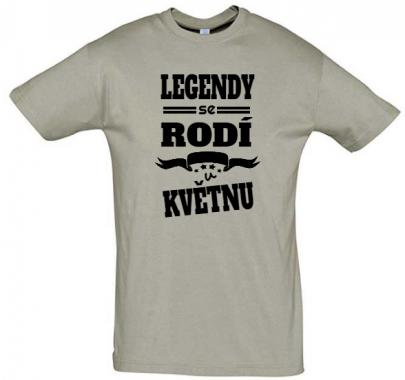 Pánské narozeninové tričko Legendy se rodí v květnu