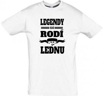 Pánské tričko k narozeninám Legendy se rodí v lednu