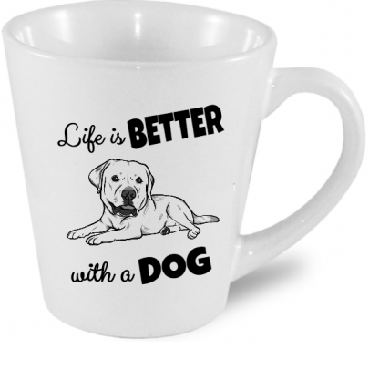Life is better with a dog - Hrnek s labradorem